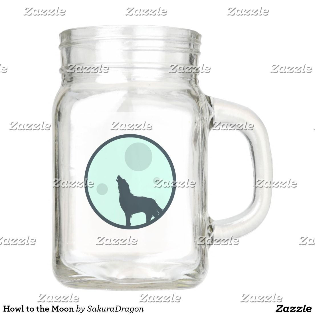 Howl to the Moon Mason Jar #wolf #wolves #animals #howl #moon