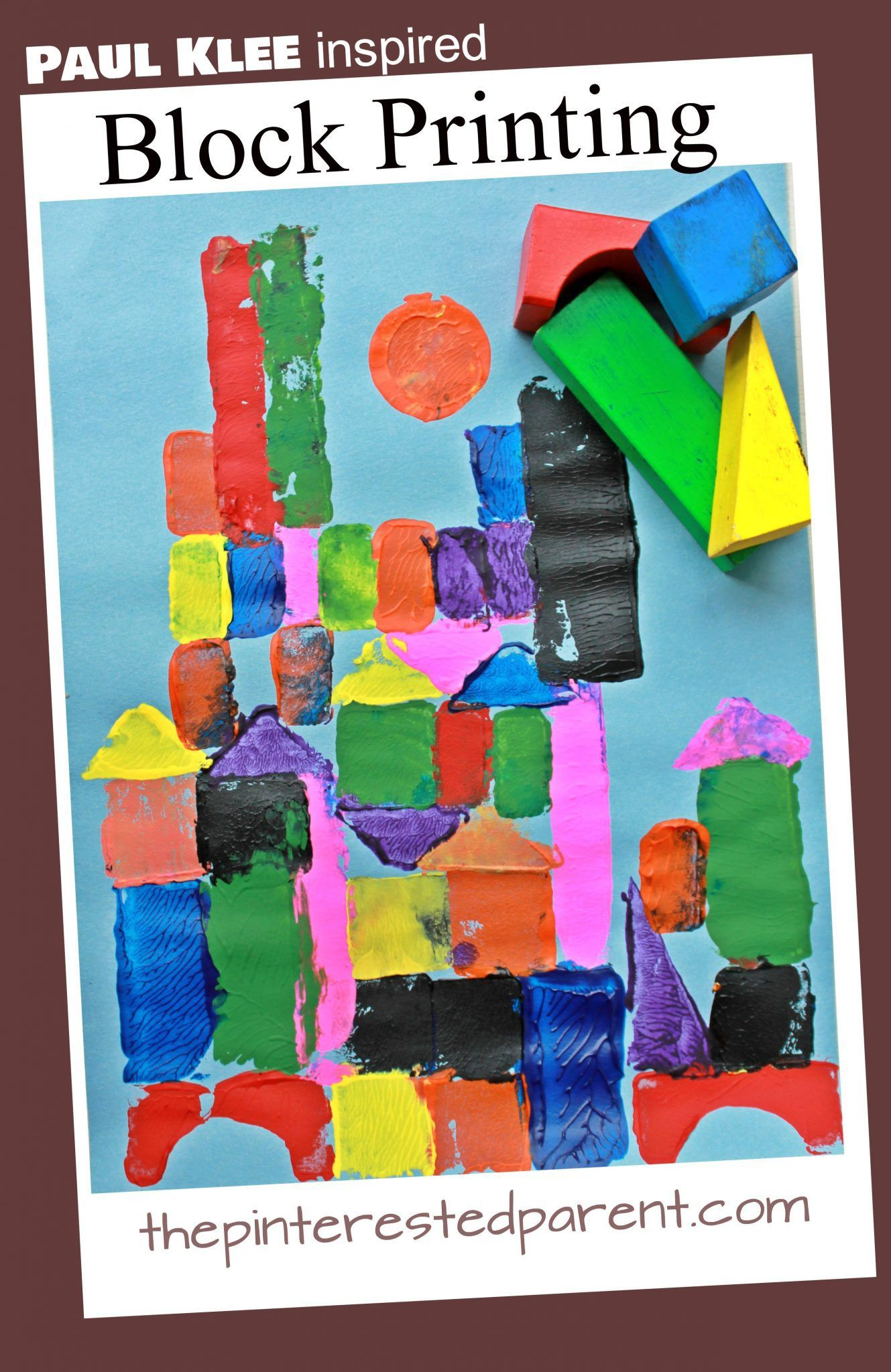 Photo of Paul Klee Inspired Block Printing – The Pinterested Parent