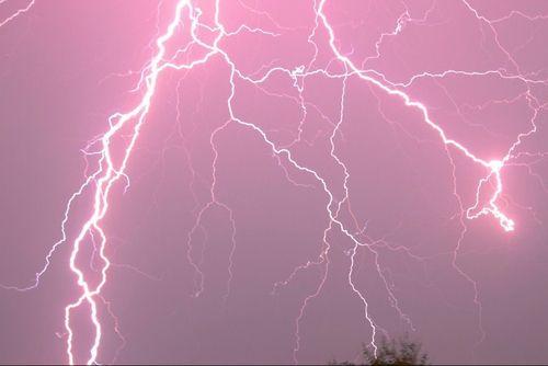 pink, grunge, and lightning image