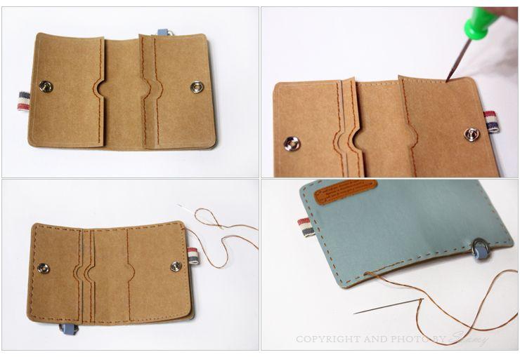 Diy Credit Card Holder Wallet Gift Card Simple Card Wallet Card Wallet Tutorial