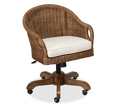 Wingate Rattan Swivel Desk Chair Desk Chair Home Office Chairs