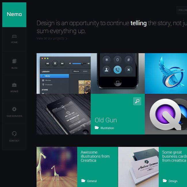 Nemo A Metro Inspired Wordpress Theme Premium Wordpress Themes Wordpress Theme Professional Wordpress Themes Best Wordpress Themes
