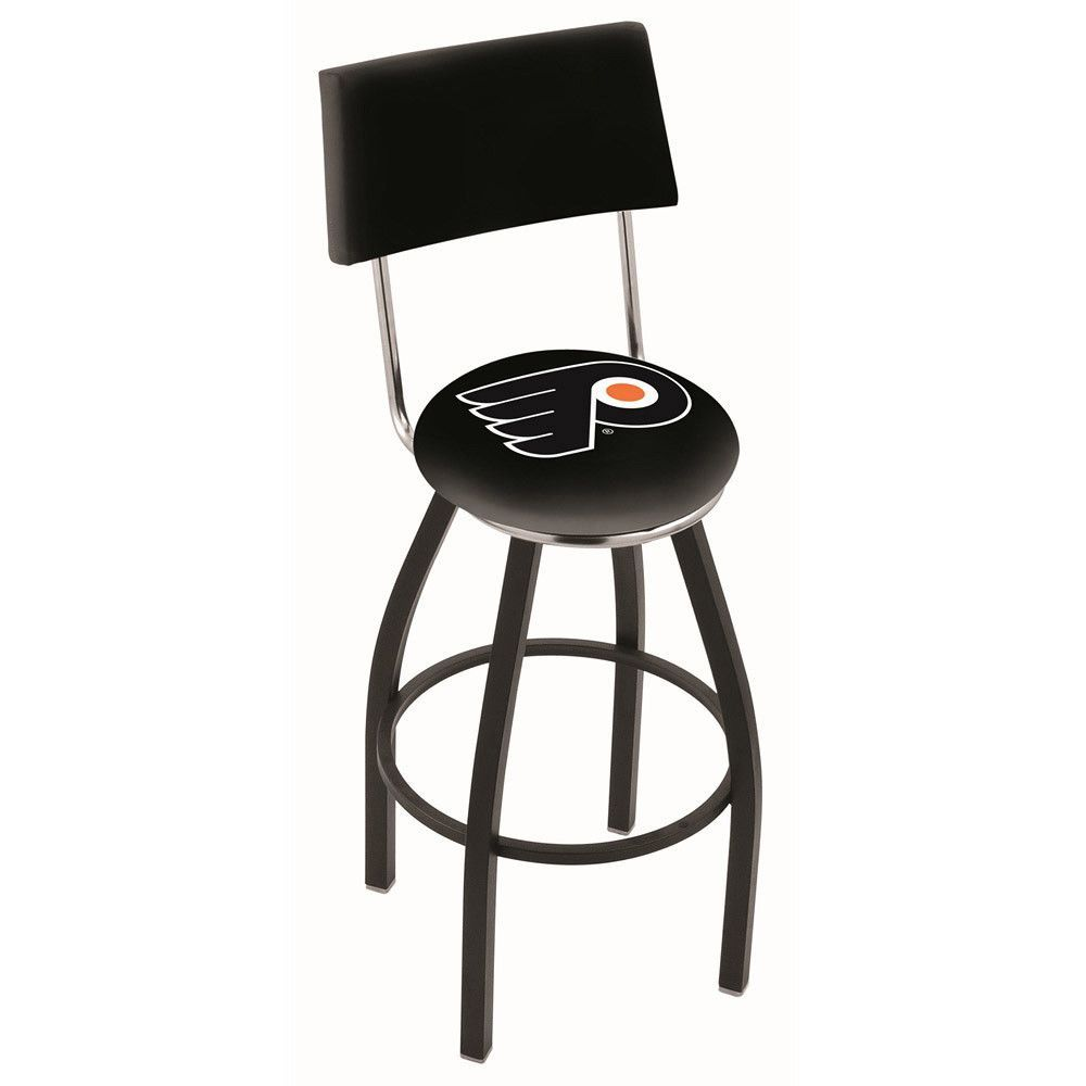 Chrome Philadelphia Flyers Swivel Bar Stool W Back