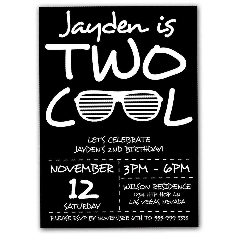 Second birthday invitation two cool birthday party invitation hip visit filmwisefo