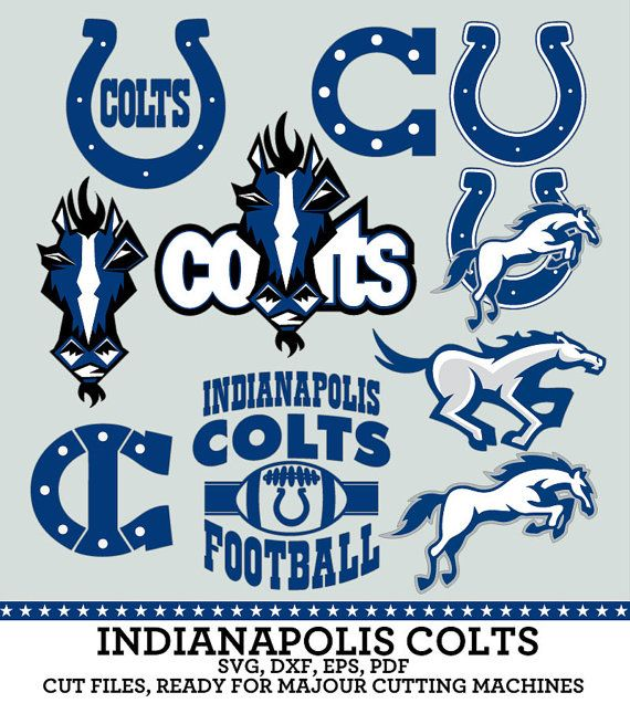Indianapolis Colts Football Logo Numbers Svg Dxf Eps Pdf Digital Files For Silhouett Indianapolis Colts Logo Colts Football Indianapolis Colts Football