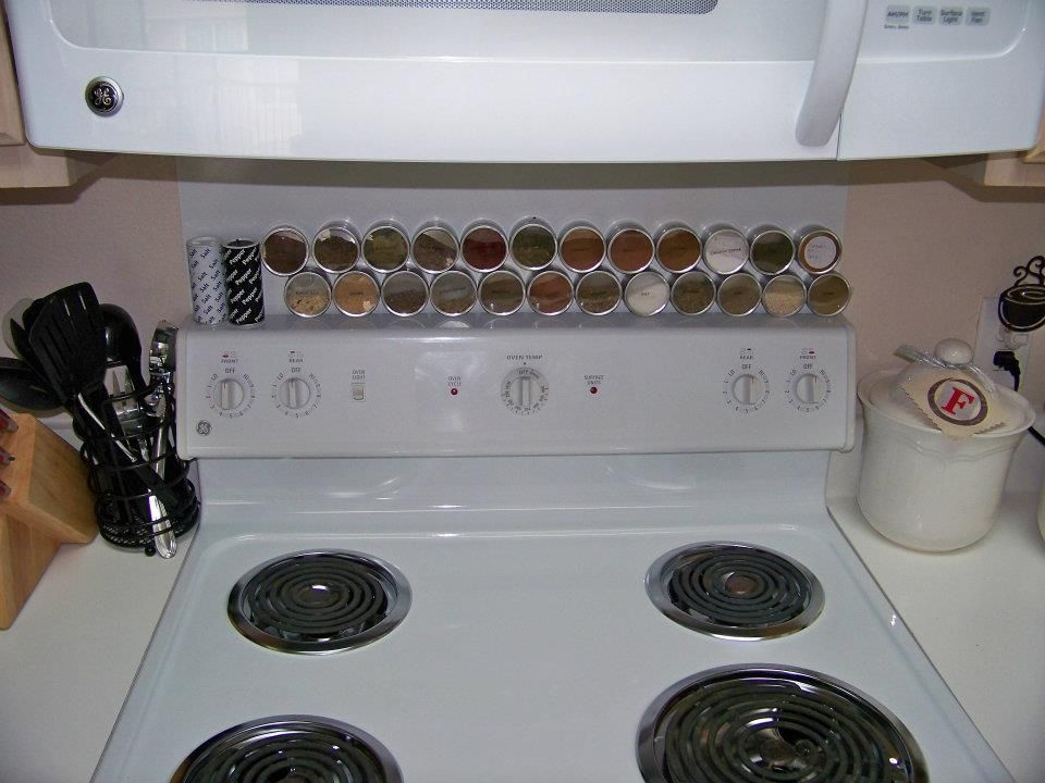 My own diy magnetic spice rack. :)