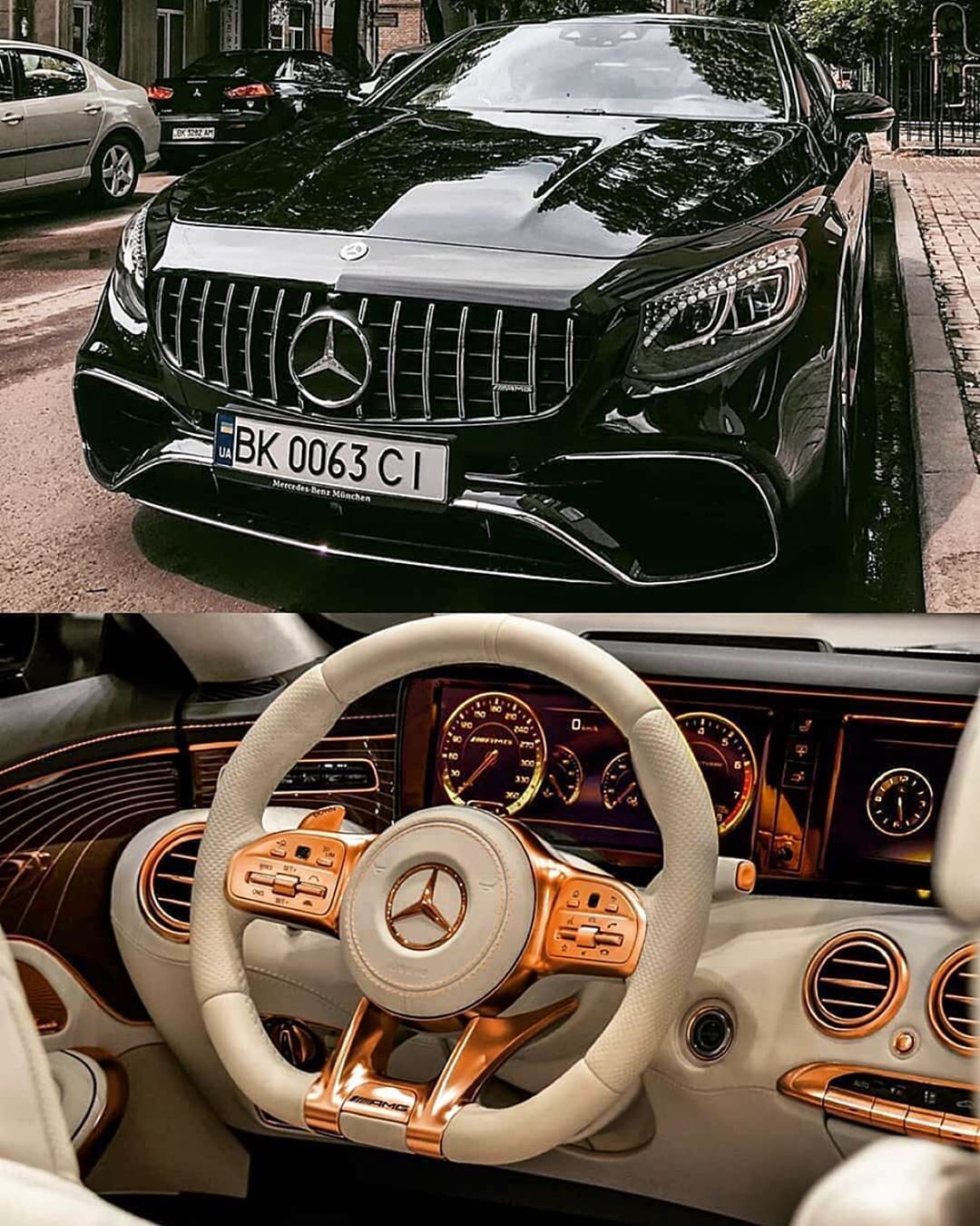 Mercedes Benz Amg S63 Follow Uber Luxury For More Via: S63 AMG Coupe With Gold Interior