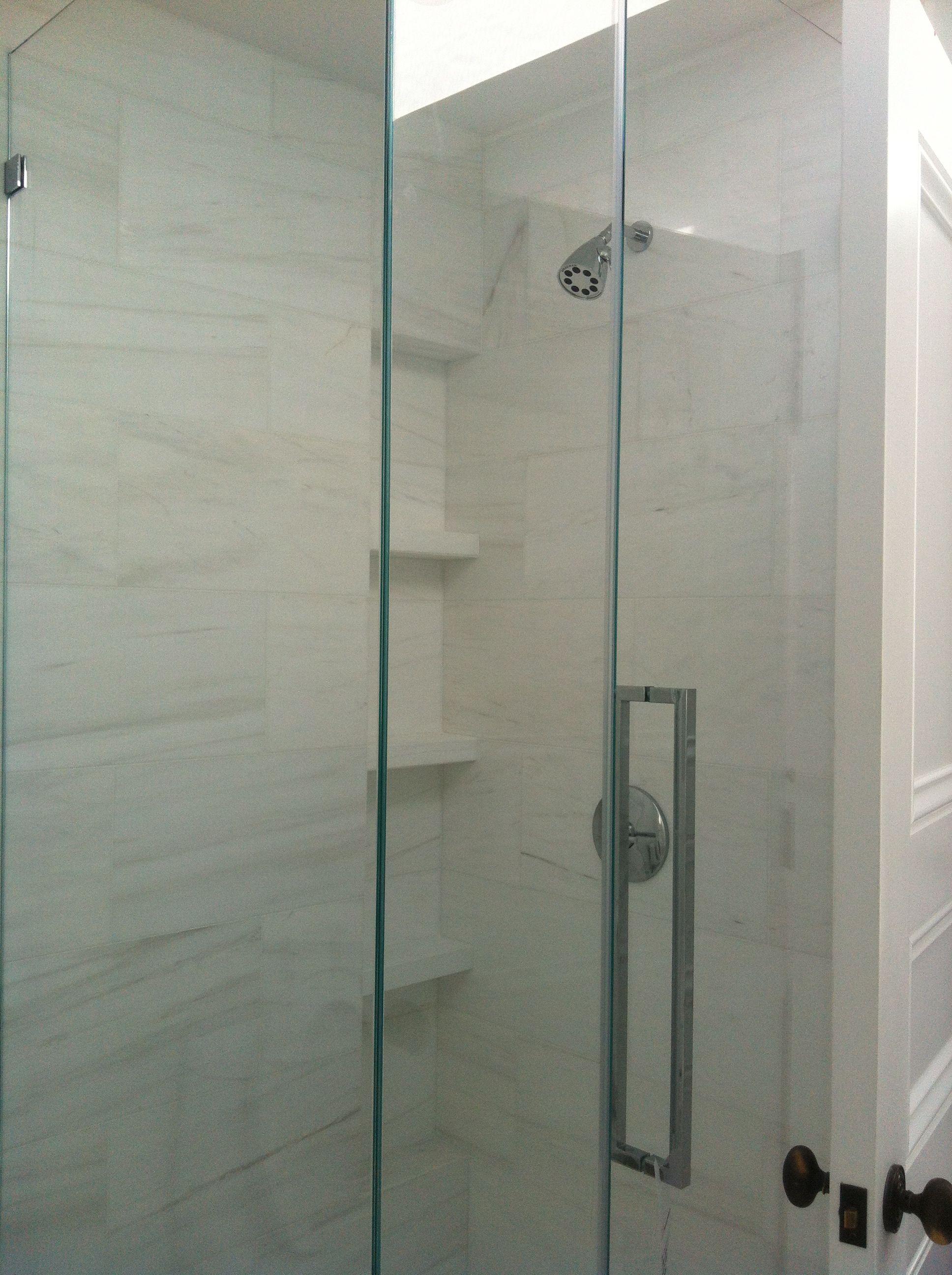 12 Quot X 24 Quot Bianco Dolomite Tile Shower Walls Marsh