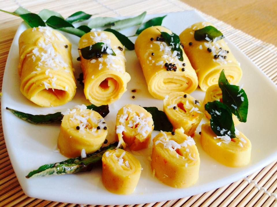 Khandvi recipe with step by step pictures recipes snacks and here find quick and easy khandvi recipe which can be made in 15 min it is commonly eaten as an appetizer or as a snack food forumfinder Choice Image