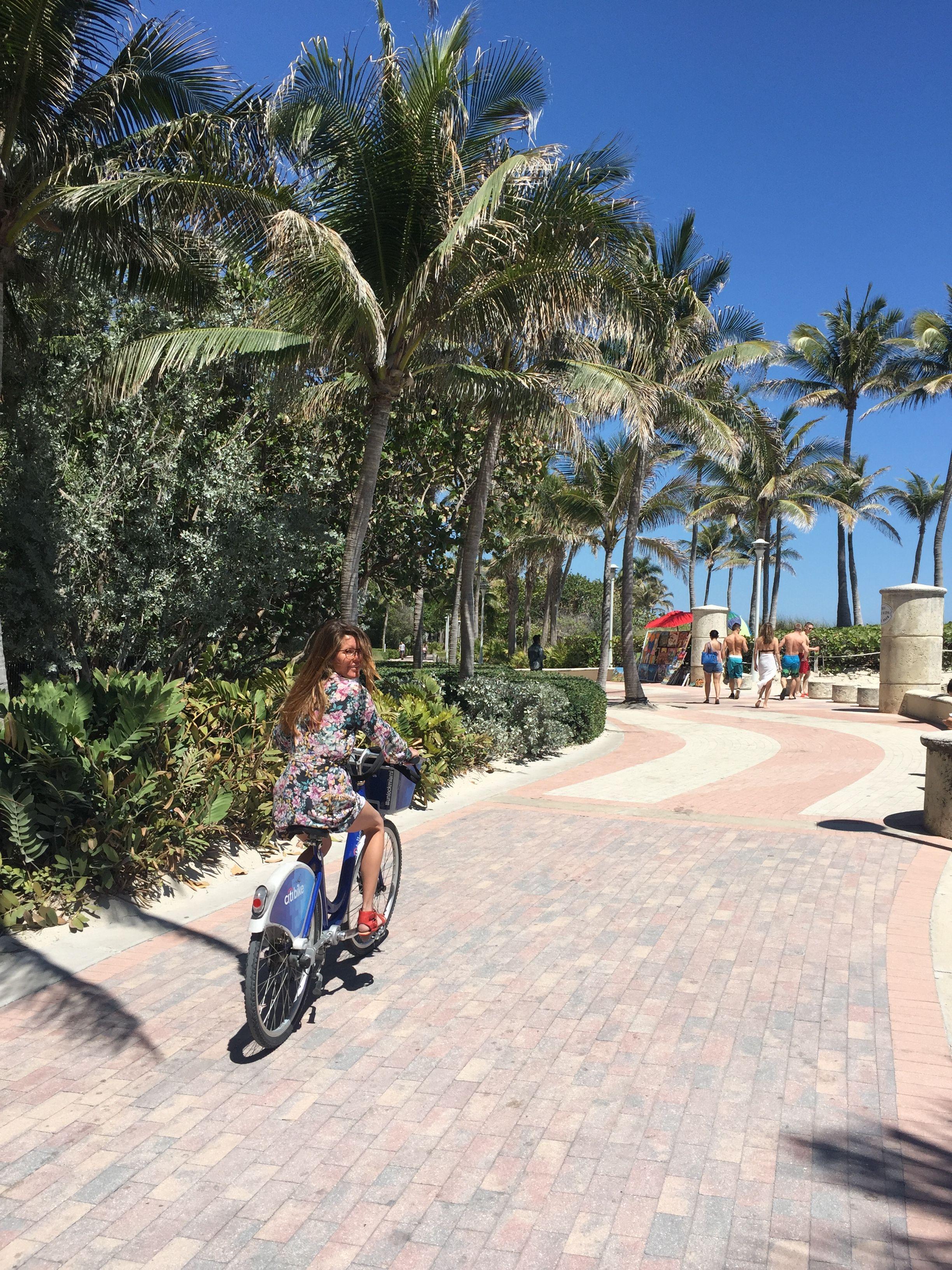 biking the miami beach boardwalk | beach boardwalk, beach