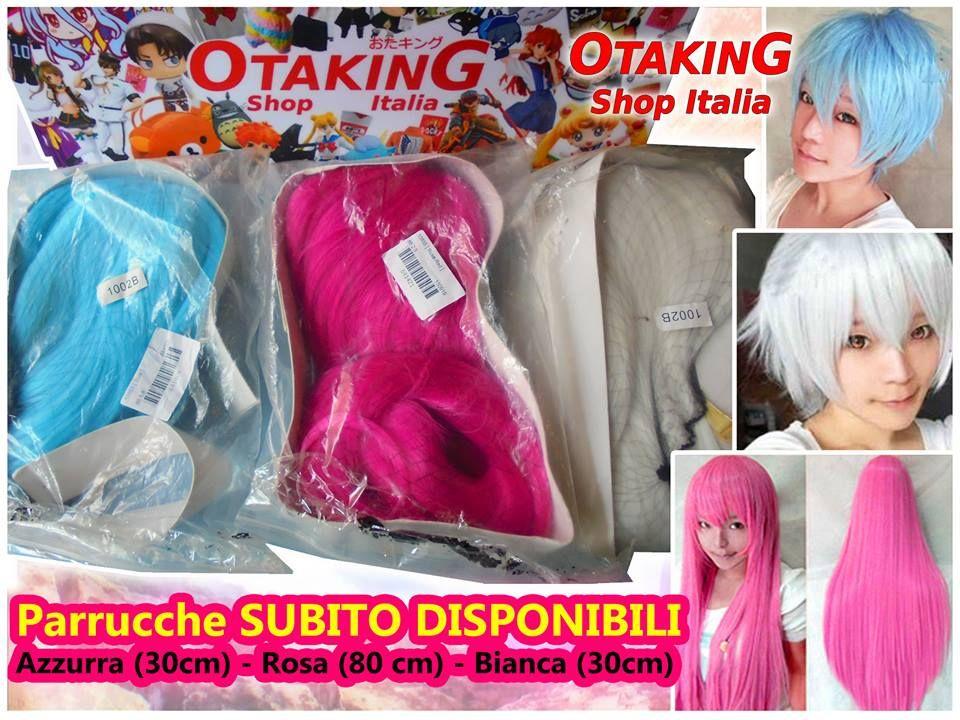 Parrucche COSPLAY subito disponibili! Colori azzurro-rosa fucsia-bianco! Per  info 28c0986f83e