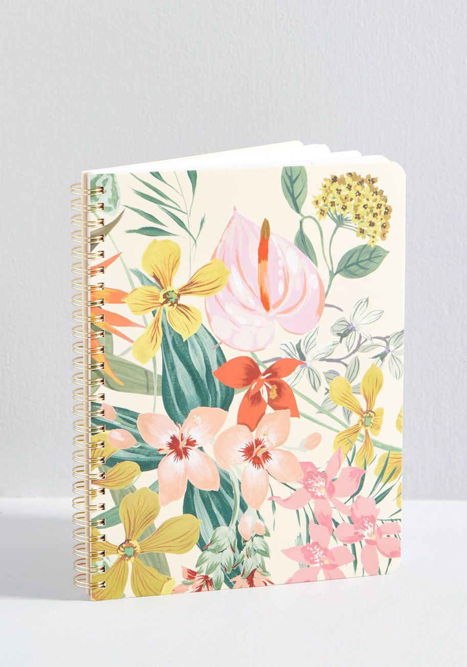 Notebook Journal This Is the Moment Flowers