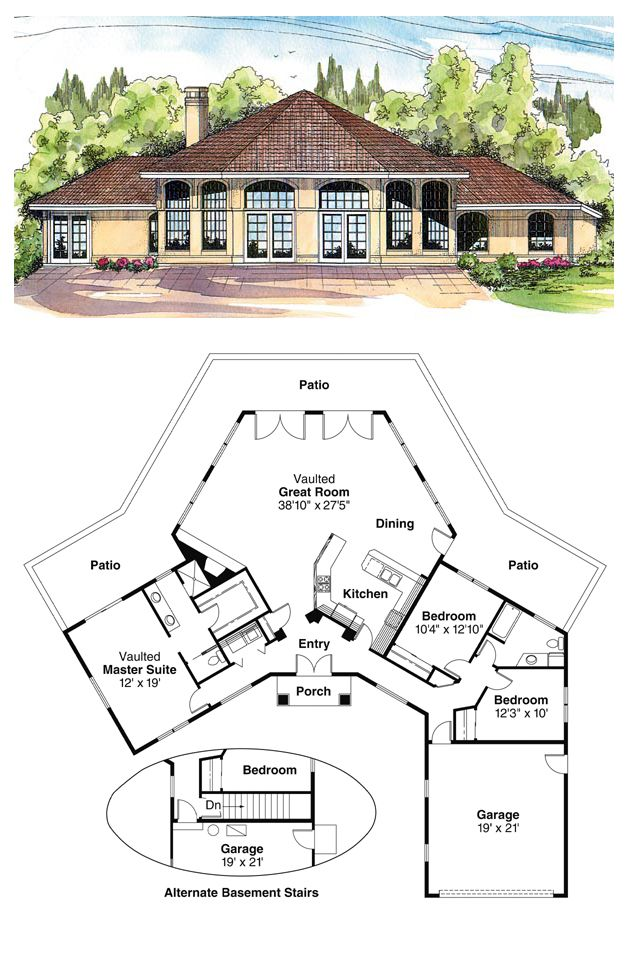 Southwest Style House Plan 69339 With 3 Bed 2 Bath 2 Car Garage Best House Plans House Blueprints Country House Plans