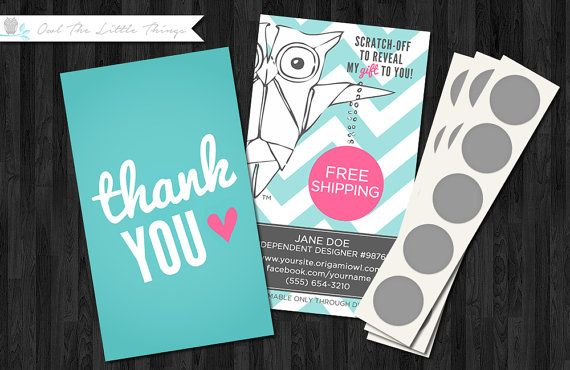 Custom Listing Thank You Scratch Off Gift Reward Cards For Jewelry