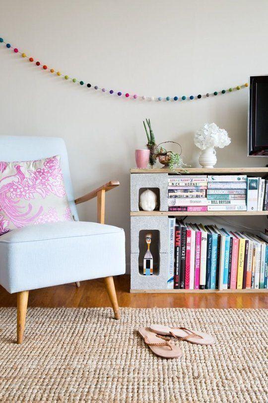 Muebles con ladrillos de cemento Estanteras Ideas de decoracion