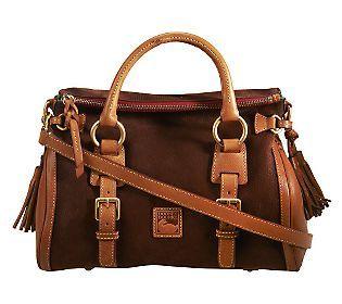 Dooney Bourke Nubuck Leather Small Jones Satchel Fall Bags Handbags
