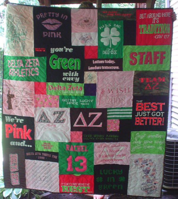 delta zeta sorority quilt now i know what to do with all