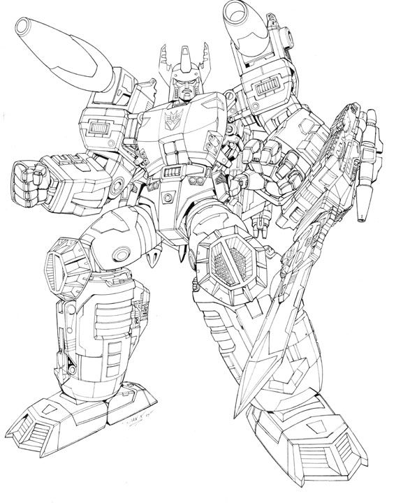 Energon Megatron Lineart Artwork For Unreleased