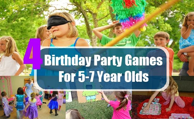 4 Birthday Party Games For 5 7 Year Olds Birthday Party