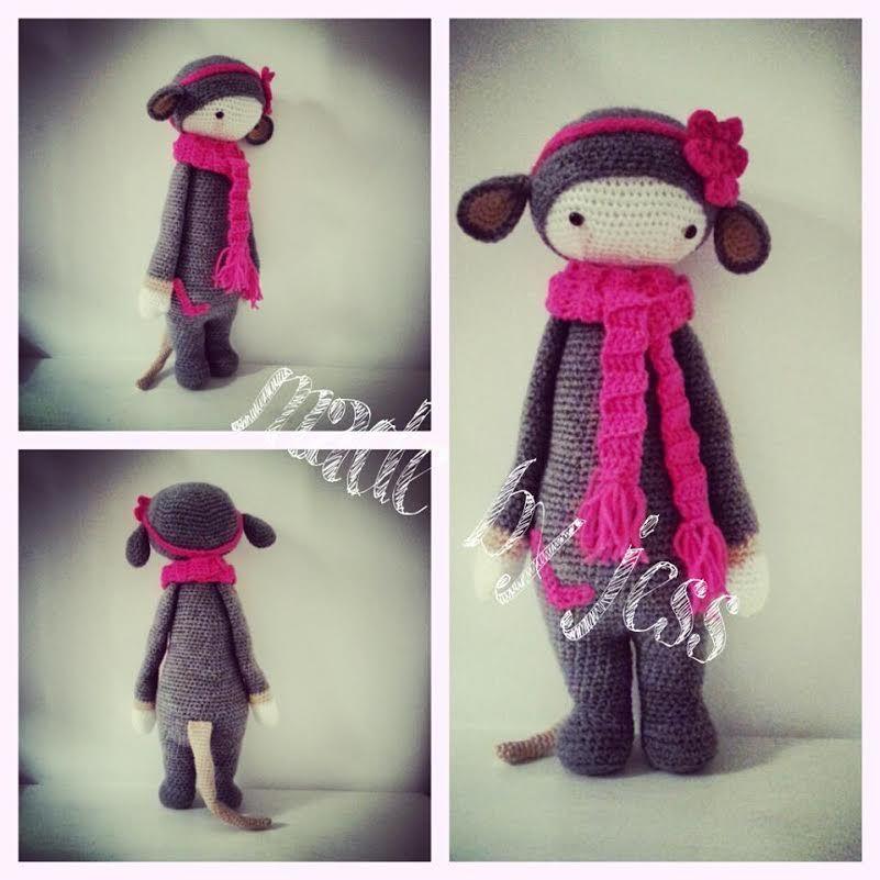 RADA the rat made by Jessica W. / crochet pattern by lalylala