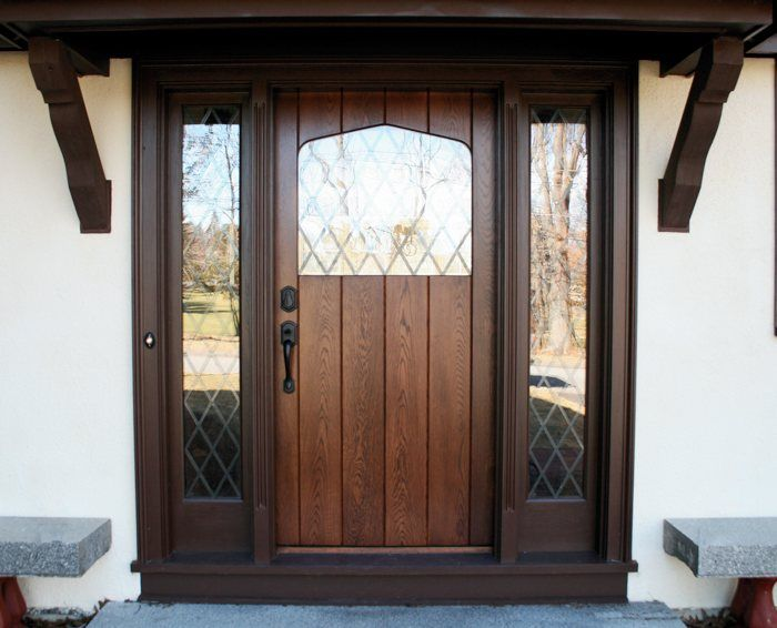English Tudor Style Entryway Door In New Addition To Match Home Melrose Ma