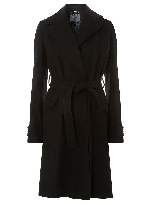 c7a205eeaf19e   Manteau portefeuille noir avec ceinture - Grande taille - Vestes    Manteaux - Vêtements