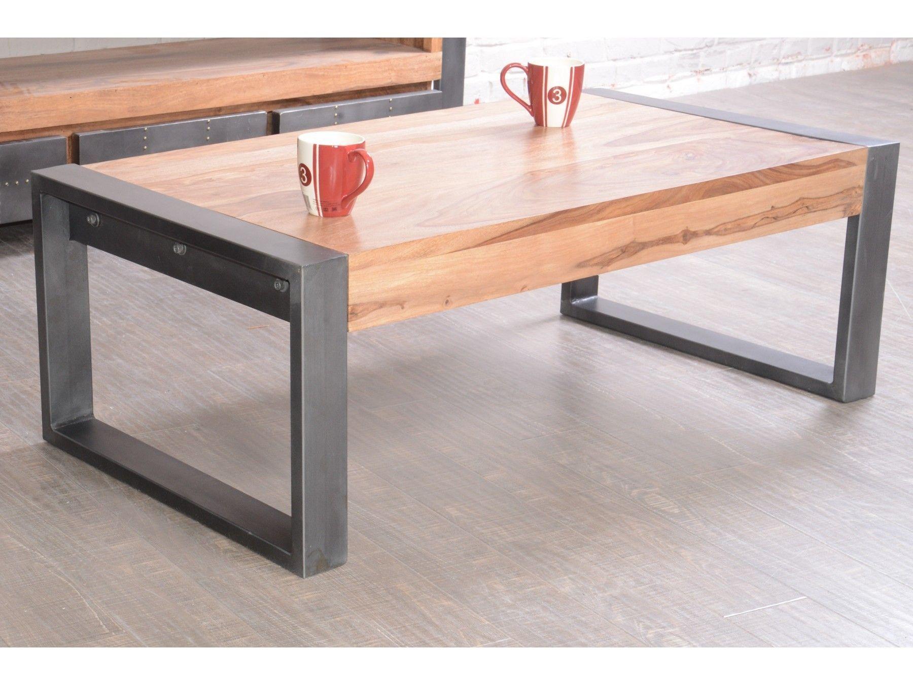 Meuble basse en palissandre acier House et Table Industry lcJTKF1