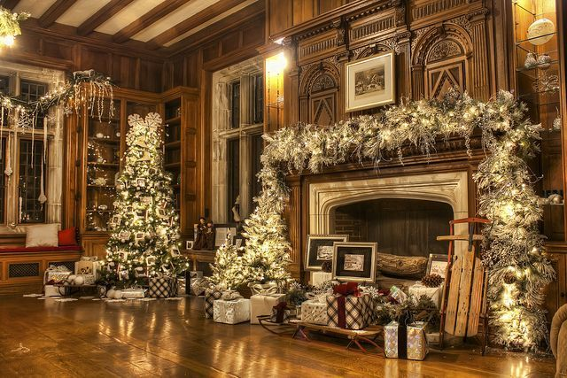 Skylands Manor Christmas 2020 Skylands Manor Holiday Open House   Library Fireplace | Christmas