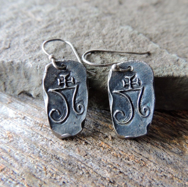 Artisan Earrings, Shibuichi Earrings, Copper and Silver Earrings, Handcrafted Earrings, Trending Jewelry, Minimalist Jewelry, Urban Chic by DianesAddiction on Etsy
