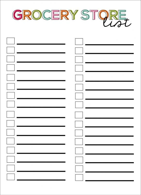 Printable Blank Grocery List Check More At Https Nationalgriefawarenessday Com 30422 Printabl Grocery Store List Grocery List Printable Grocery List Template