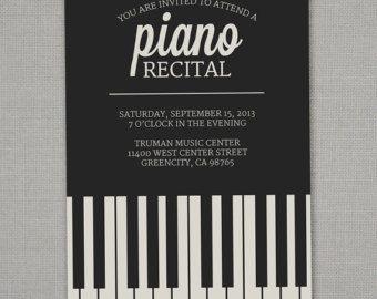 piano recital invitation party food pinterest recital
