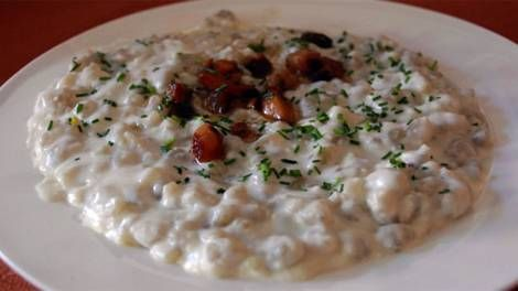 Photo of Bryndzove halusky recipe. Make it with feta instead. Slovak national dish.