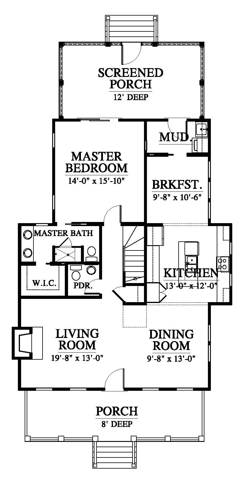 Coosaw River Cottage House Plan Design from Allison Ramsey Architects