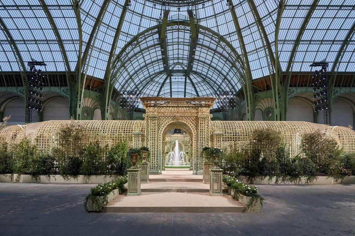 e1a62b455 Set Decor For The Chanel Spring/Summer 2018 Haute Couture Show. Grand  Palais, Paris, France. 3e Ave. du General Eisenhower.