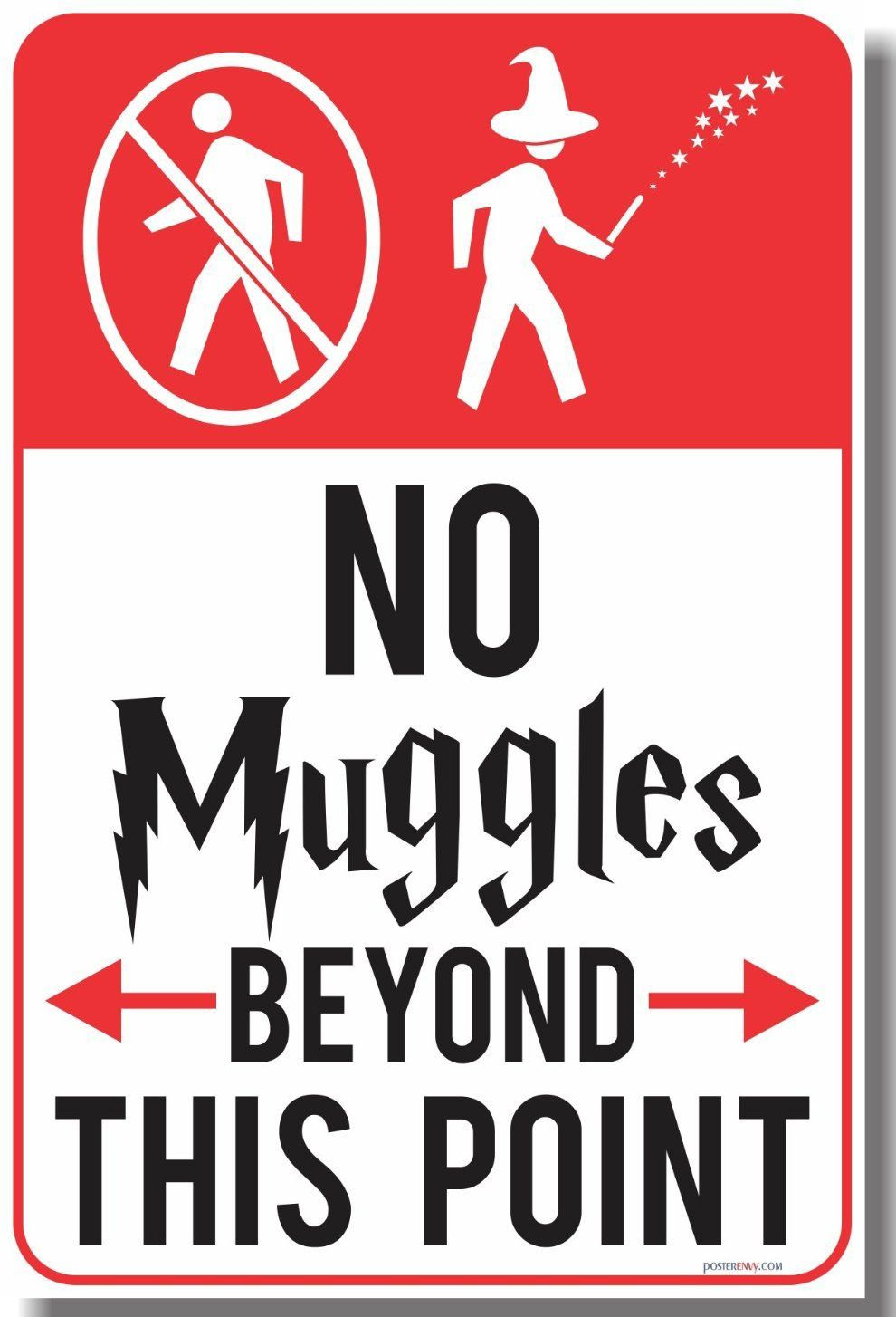Harry Potter Wall Sticker No Muggles Beyond This Point Vinyl Wall Decal Home Art
