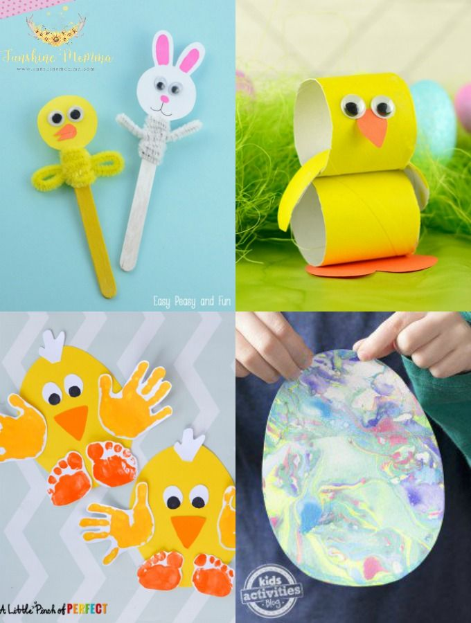 We love springtime and nothing is more fun that getting outside in the nice weather and making some kids crafts for Easter.