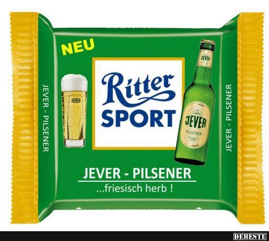 Ritter Sport - Jever Pilsner | Ritter Sport | Sports Humor ...