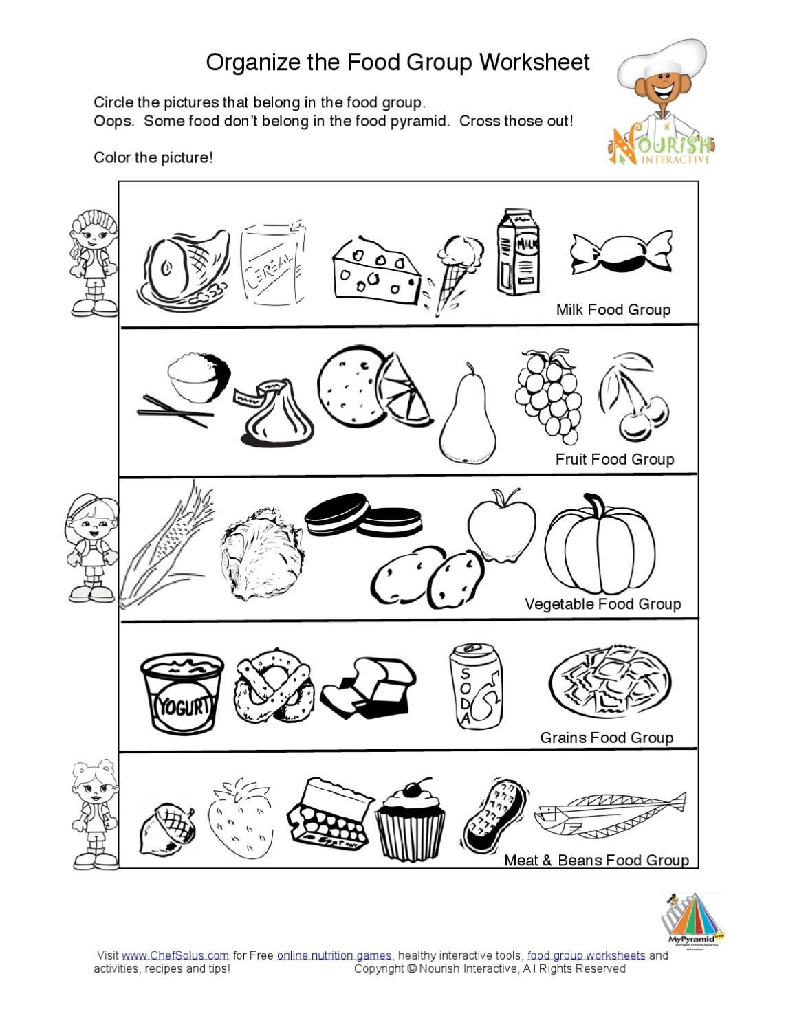 Kids Food Pyramid Food Groups Learning Nutrition Worksheet K In 2020 Food Pyramid Group Meals Kids Nutrition