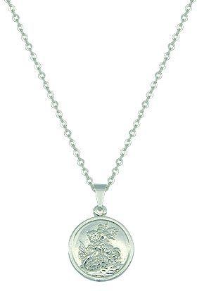 Gargantilha folheada a prata c/ a medalha de São Jorge Código: G0723 P