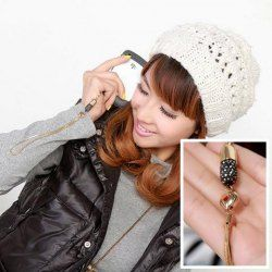 $2.74 Fashion and Sweet Rhinestone Embellished Long Chain Design Pendant For Mobile