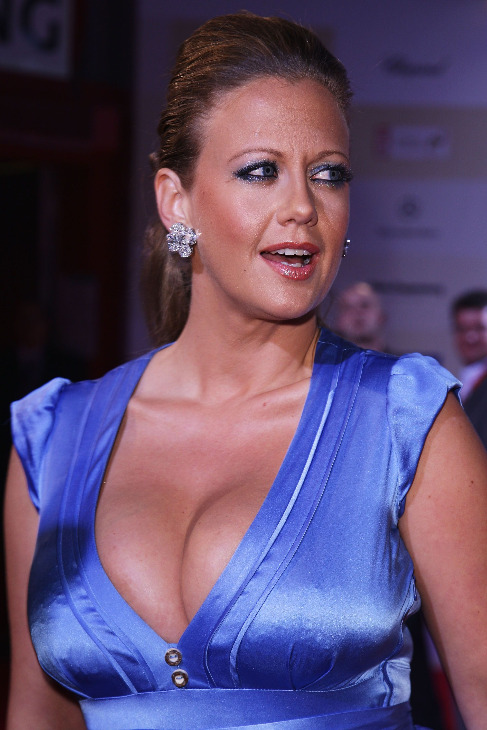 TV Host Barbara Schoeneberger attends the Tribute to Bambi 2008 charity at the Dome in Europapark