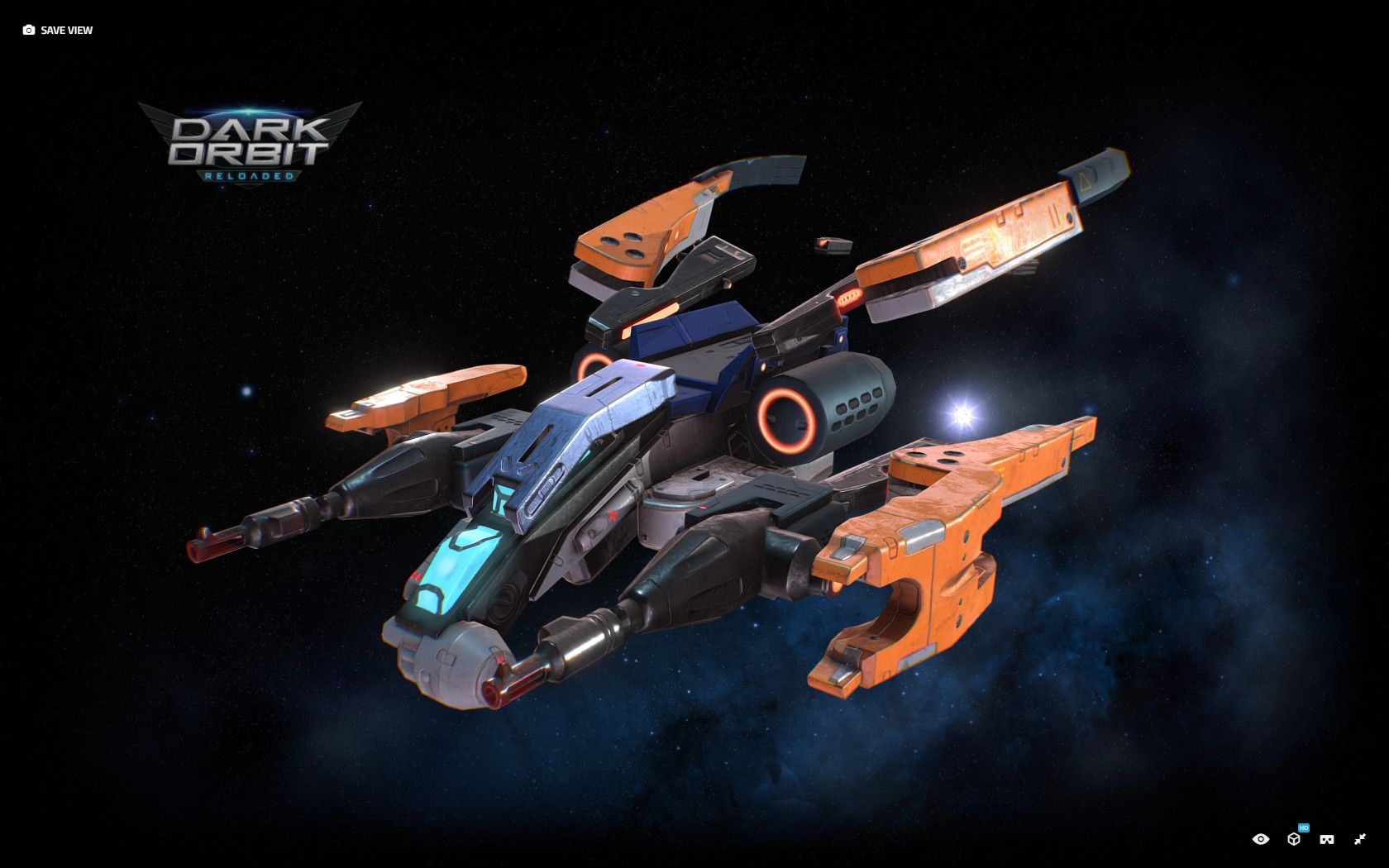 Spaceship I worked on for the game DarkOrbit  Concept by Young-Il