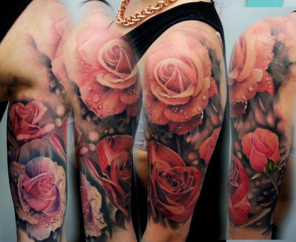 Rosehalfsleevetattoobbg rose tattoos