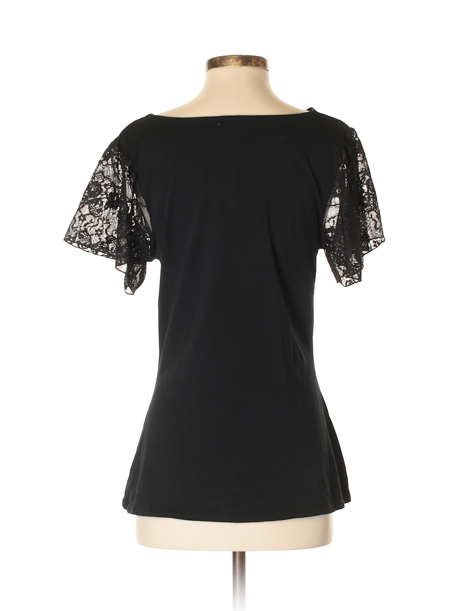 Gap Short Sleeve Top Size 400 Black Womens Tops