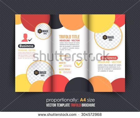 Multicolor Circle Elements Tri-Fold Brochure Corporate Leaflet - tri fold brochure
