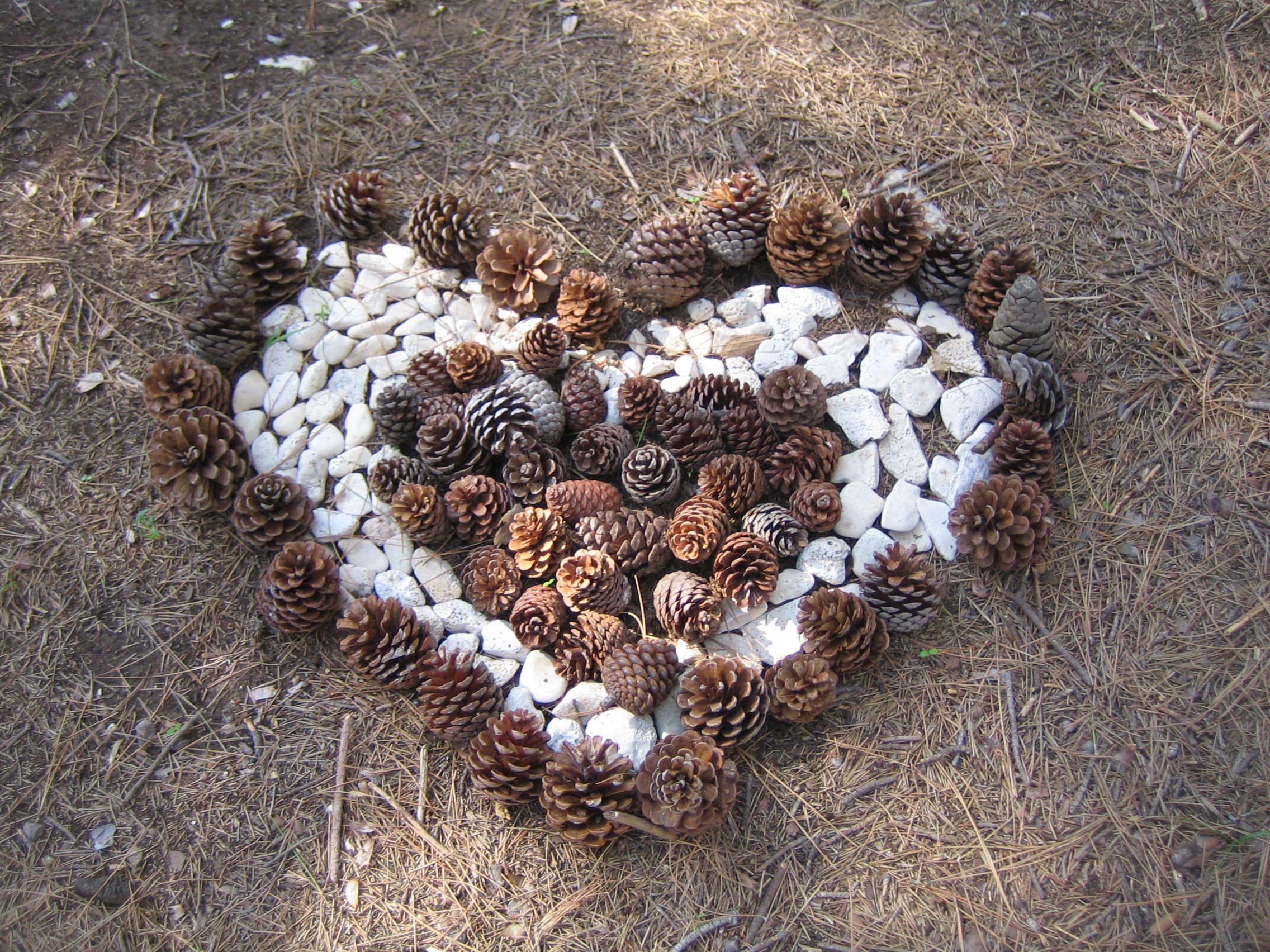 ein Herz, gefunden in Istrien, Kroatien ...