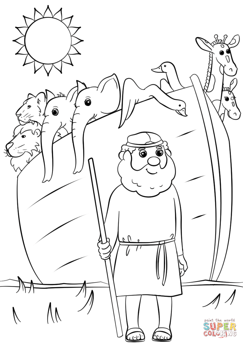 Noah S Ark Animals Two By Two Super Coloring Noahs Ark Animals Sunday School Coloring Pages Noahs Ark Craft