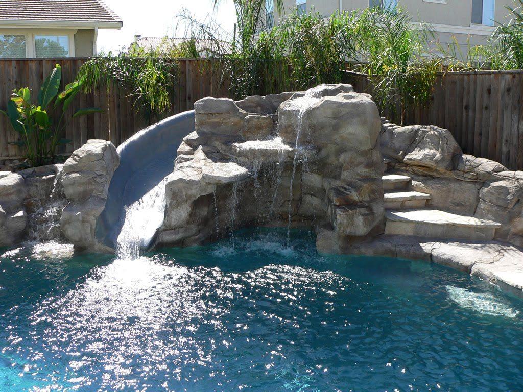 Pool Slide Plumbing And Pool Equipment Home