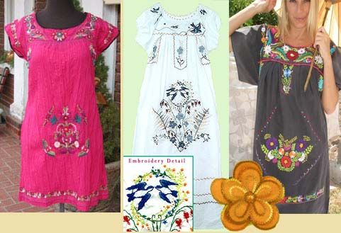 Embroidered - Mexican Dresses