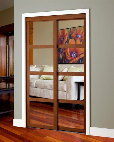 Colonial Elegance Reg Fusion Plus 72 X 80 1 2 Framed Mirrored Sliding Door Closet Door Makeover Bungalow Bedroom Sliding Closet Doors